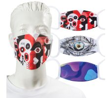 Face Mask - Economy Double Layer Dye-Sub Stretch Fabric Graphic