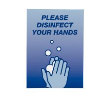 Deluxe Hand Sanitizer Stand Top Graphic